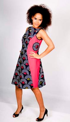 African dress pink and blue by DeLaManu on Etsy