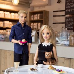 The time Barbie went Parisian - Because you can never fault a black and white combo or a pet-friendly cafe.