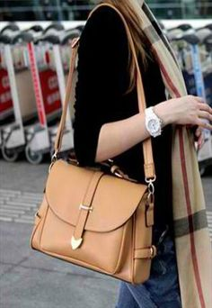 Stylish Khaki Hand Bag