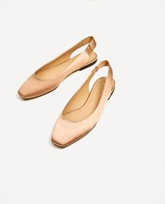 Image 4 of SATIN SLINGBACK BALLERINAS from Zara