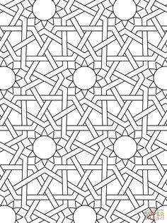 Islamic Ornament Mosaic | Super Coloring