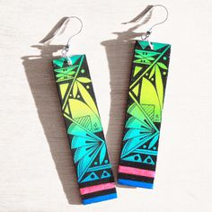 Dream In Color Earrings by Michelle Lowden (Acoma)