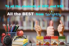 SPRIGHTLY FOOD wishing all the best to the students of SSC and HSC !! #SprightlyFood #SSCExam #HSCExam #allthebest