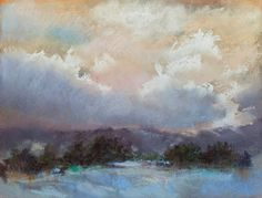 January Afternoon - Pastel
