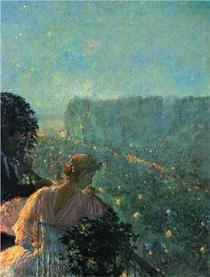 Summer Evening, Paris | Childe Hassam | 1889
