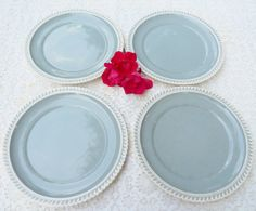 Harkerware Pate sur Pate Dinner Plates  Set by RosebudsOriginals, $39.95