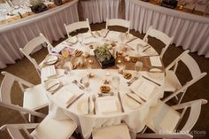 Nicole & Luke's Wedding - Guest Table - TNM / Tigh-Na-Mara -  Summer 2016 - Etched Productions - Burlap, Wedding Decor, Rentals, Wood Folding Chairs, Guest Table, Rustic Theme, Moriarty Room, Vancouver Island / Nanaimo / Parksville Reception Decorations, Table Decorations, Wedding Guest Table, Wood Folding Chair, Ceiling Draping, Rustic Theme, Moriarty, Vancouver Island, Summer 2016