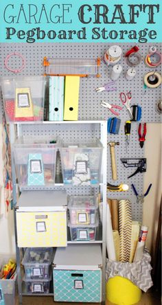 Project Get Organized - Garage Craft Space - SohoSonnet Creative Living