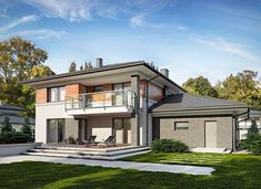 Kleo - zdjęcie 2 4 Bedroom House Designs, Modern Architecture House, Rio 2, House Floor Plans, Home Fashion, New Homes, Construction, Exterior, How To Plan