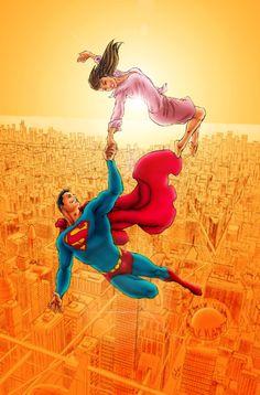Lois and Clark, Superman. Clark Superman, Superman Love, Superman And Lois Lane, Adventures Of Superman, Superman Family, Superman Man Of Steel, Superman Comic, Superman Wonder Woman, Batman