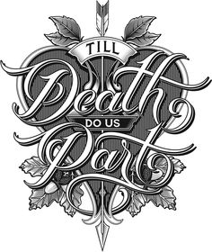 Logo design by Martin Schmetzer for the new series, Till Death Do Us Part with Daniel Lee Martin and Julie McQueen. An all around lifestyle series that has everything to do with the outdoors.