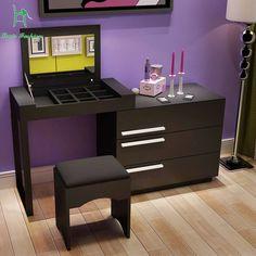 Simple modern white paint the bedroom dresser dresser table flip IKEA large-sized apartment dresser retractable