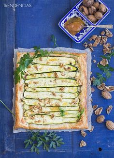 Puff Pastry Recipes, Veggie Recipes, Zucchini, Food Porn, Brunch, Veggies, Healthy Eating, Yummy Food, Cooking