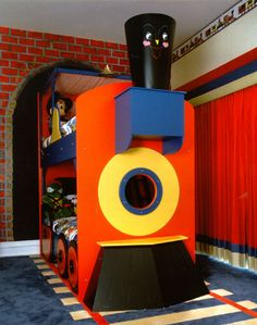 Train theme boys rooms! How darling are these train rooms!? I can barely handle it! What little boy wouldn't love to go to sleep with dreams of passenger cars and smoke stacks? Check out this amazing collection on Designdazzle.com