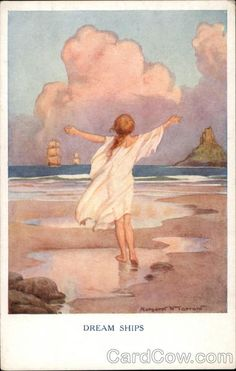 """Let us dance in the sun, wearing wild flowers in our hair..."" ~Susan Polis Schutz Dream Ships - Margaret Tarrant"
