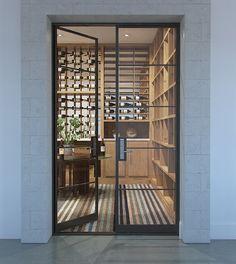 Glass Wine Cellar, Home Wine Cellars, Wine Cellar Design, Wine Cellar Modern, Wine Design, Wine Glass, Restaurant Door, Wine Cellar Basement, Wine House