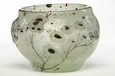 Emile Gallé, Nancy, (1846-1904), Blown, Internal Inclusions and Engraved Glass Vase.