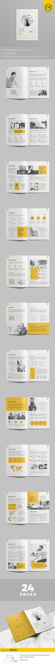Corporate Brochure Design 2018 — InDesign INDD #project proposal #corporate • Download ➝ https://graphicriver.net/item/corporate-brochure-design-2018/21190152?ref=pxcr
