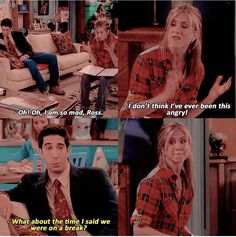 Ross nuu you didn't xD Very definition of triggered right there Friends Funny Moments, Serie Friends, Friends Scenes, Friends Cast, Friends Episodes, I Love My Friends, Friends Tv Show, Best Season Of Friends, Ross Geller