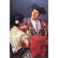 Buyenlarge 'Toreador with Young Girl' by Mary Cassatt Painting Print Size: