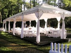 20x40 Frame Tent - 80 guests