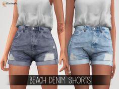 The Sims 4 Elliesimple - Beach Denim Shorts
