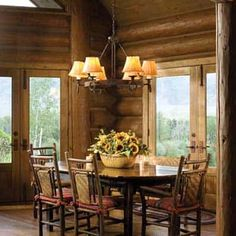 Handcrafted Log Cabin Kitchen
