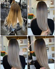 #hair  #haircolor  #hairsalon  #hairstyle  #girl  #polishgirl  #grey  #ombre…
