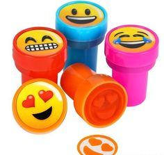 Novelty ink stampers include happy, crying with laughter, love, and grimacing smileys. A fun stationery gift that kids will get a lot of enjoyment out of at home or school.