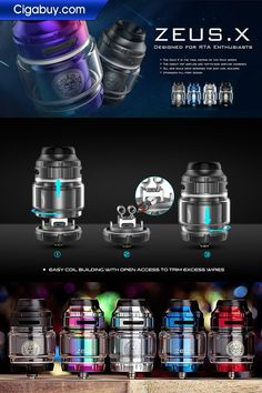 Presenting the Geekvape Zeus X Mesh RTA, which featured the same form factor as the Zeus X RTA and brand-new building deck for mesh coil.