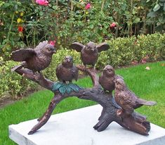 Bronzen vogeltjes op tak - GerichteKeuze
