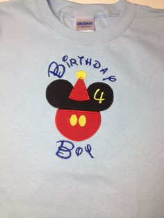Birthday Boy Shirt Disney style by CreativeLifeboutique on Etsy, $20.00