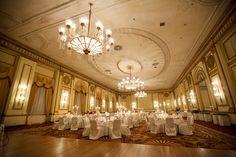 The Pacific Ballroom. Fairmont Hotel Vancouver - borgstrom/Laurie wedding. Design by wedding design studio