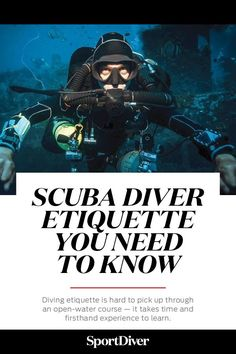 Ask DAN: What Should I Know About Etiquette Among Scuba Divers? —Diving etiquette is hard to pick up through an open-water course — it takes time and firsthand experience to learn. Scuba Diving Quotes, Best Scuba Diving, Scuba Diving Gear, Cave Diving, Scuba Diving Magazine, Scuba Diving Certification, Diving School, Scuba Diving Equipment, Deep Diving