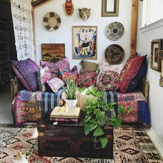 Hippie Haus // Bohemian Room Design // Gypsy Decor // saved by Indigo Sunshine ✨☪️ Bohemian Room, Bohemian House, Bohemian Interior, Bohemian Decor, Hippie Bohemian, Bohemian Style, Gypsy Decor, Boho Bedroom Decor, Guatemalan Textiles