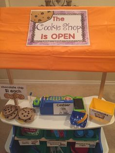 15+ ways to transform a Melissa & Doug Grocery Store for Pretend Play *How cool is this cookie shop idea for kids?