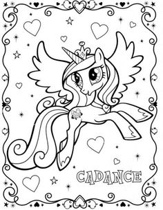 Beautiful Alicorn Princess Cadence coloring pages