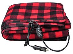 12-Volt Red Plaid Heated Electric Blanket for Car, Truck or RV with High/Low Temp control - http://www.caraccessoriesonlinemarket.com/12-volt-red-plaid-heated-electric-blanket-for-car-truck-or-rv-with-highlow-temp-control/  #12Volt, #Blanket, #Control, #Electric, #Heated, #HighLow, #Plaid, #Temp, #Truck #12V-Heated-Blankets, #Fall-Winter-Driving