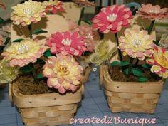 Flowers made with Flower Shoppe Cricut cartridge.