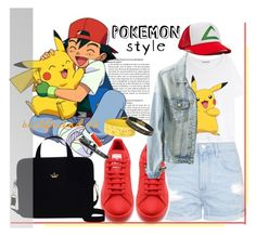 """Pokemon Style"" by mycherryblossom ❤ liked on Polyvore featuring Topshop, Acne Studios, York Wallcoverings, adidas, Kate Spade, Pokemon, polyvorestyle and polyvorecontest"