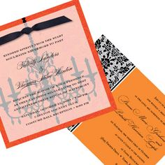 These refined invitations send the message that your wedding may be a little spooky, but still classic.