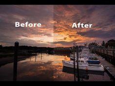Lightroom and Photoshop Tutorial – Edit a Dock at Sunrise | Matt K