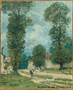 La route de Versailles,1875. Musée d'Orsay,Paris.