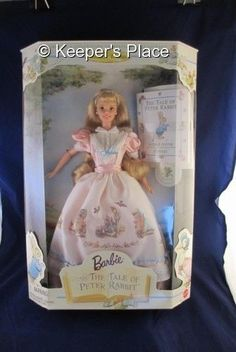 1997 BARBIE THE TALE OF PETER RABBIT DOLL COMPLETE SET NEW IN BOX MINT CONDITION