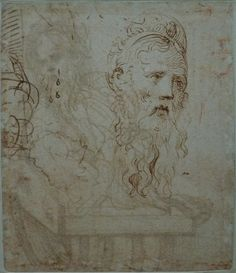 "PARMIGIANINO,1524 - Portrait de Galeazzo Sanvitale, Seigneur de Fontanellato, Etude (Louvre INV6472-Verso) - 0  -  TAGS : drawing dessin disegno figure figures people personnes art painter peintre details détail détails ""Le Parmesan"" Parmesan ""Francesco Mazzola"" Francesco Mazzola Italy Italy Parme Parma France croquis étude study sketch sketches sanguine ""red chalk"" portrait Seigneur Fontanellato lord tête homme man ""tête d'homme barbu"" ""bearded man's head"" barbu bearded beard barbe"