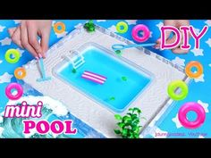 How To Make A Miniature Swimming Pool Zen Garden – DIY Stress-Relieving Desk Decoration - YouTube