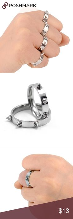 Rivet Ring Hot Sale ! Stainless Steel, Rivet Ring. Size: 6.5. Price is for 2 rings. Jewelry Rings