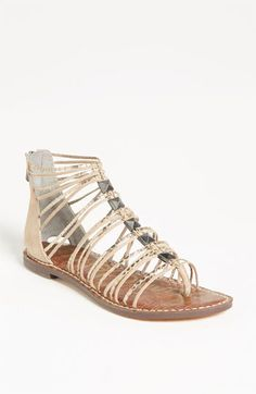 ['Grant' Sandal - Sam Edelman @ Nordstrom] Been looking for a nude gladiator sandal, and only want to buy one pair of sandals this year. Possibly these.
