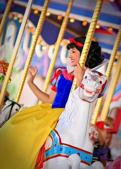 Snow White on Prince Charming's white horse!