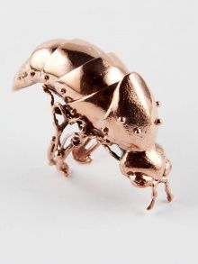 ARTICULATED FIREFLY RING by  VERNISSAGE | NOT JUST A LABEL